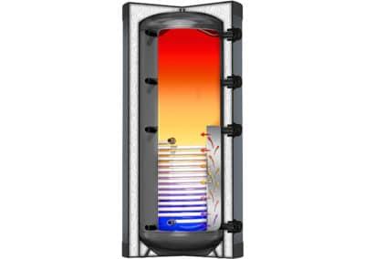 Solární akumulacční nádrž s průtokovým ohřevem TUV