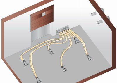 6-bodová přepínací jednotka (bez instalace šikmé podlahy)
